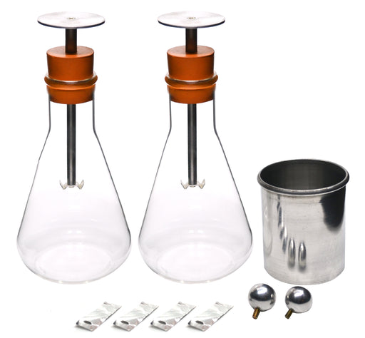 Electroscope Kit, Electrical Charge Demonstration, Borosilicate Glass Flasks - Eisco Labs