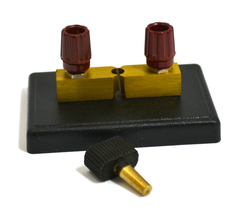 Eisco Labs Visual Copper Plug Switch, 2 Terminals - 4mm Terminals (Removable Plug)