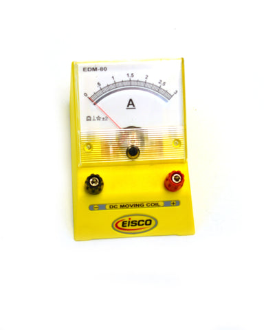 Eisco Labs Analog Ammeter, DC Current Meter, 0 - 3 Amp, 0.05A resolution