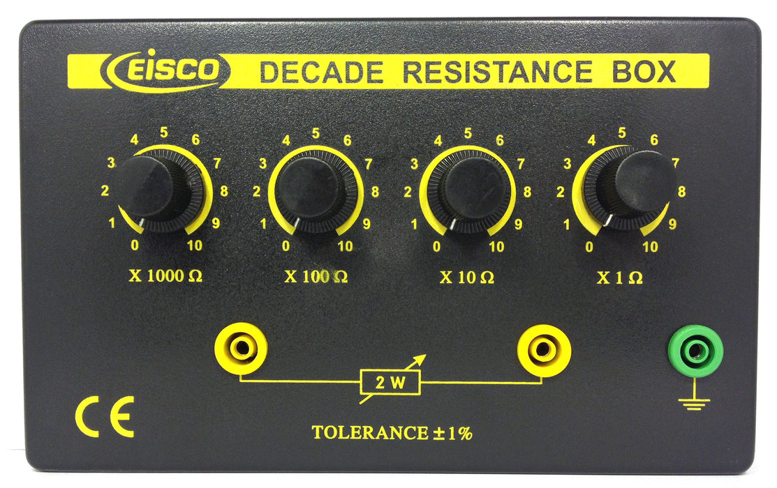 4 Decade Resistance Box, Variable from 0 - 11,110 Ohms, 0.5W Resistors (0.5555W Theoretical Max)