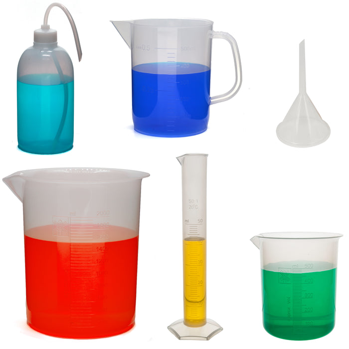 6 Piece Future Scientist's Laboratory Bath Kit - Polypropylene
