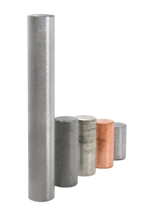 5pc Equal Mass Cylinders Set - Zinc, Copper, Aluminum, Tin & Lead - Eisco Labs