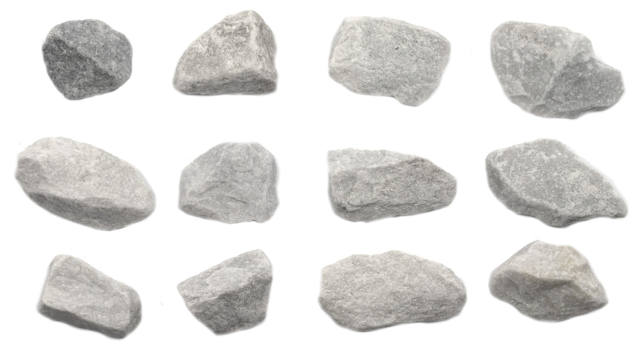 "12 Pack - Coarse White Marble, Metamorphic Rock Specimens - Approx. 1"" - Eisco Labs"
