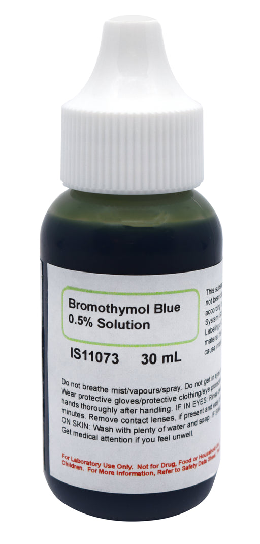 0.5% Bromothymol Blue Solution, 30mL - The Curated Chemical Collection