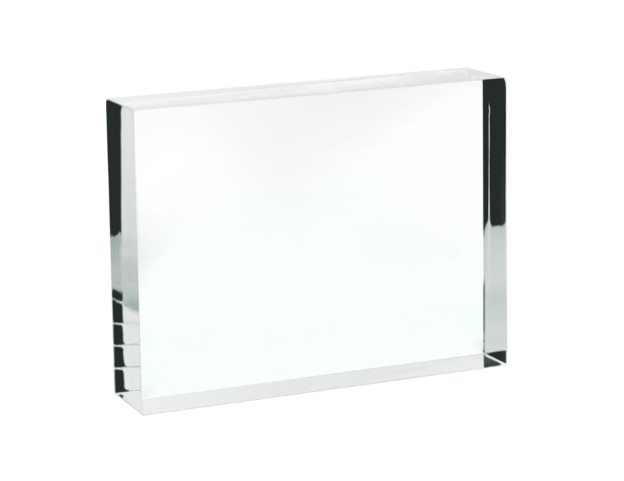Rectangular Refraction Block, 100mm x 75mm x 18mm - Acrylic