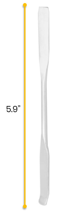 Spatula, 5.9 Inch - Dual Ended, Flat End & Bent End - Stainless Steel