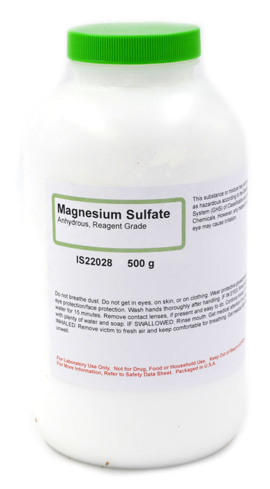 Magnesium Sulfate, 500g - Anhydrous - Reagent-Grade - The Curated Chemical Collection