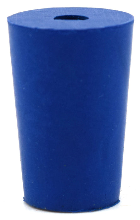10PK Neoprene Stoppers, 1 Hole - ASTM - Size: #00 - 10mm Bottom, 14mm Top, 25mm Length