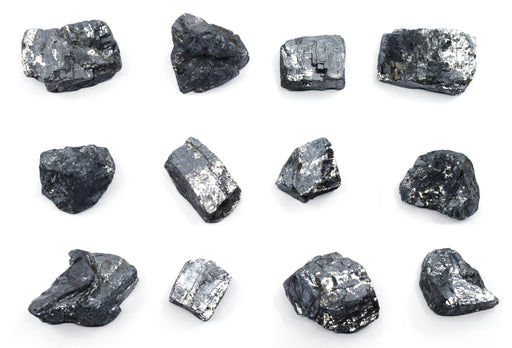 "12PK Raw Galena, Mineral Specimens - Approx. 1"" - Geologist Selected & Hand Processed - Great for Science Classrooms - Class Pack - Eisco Labs"