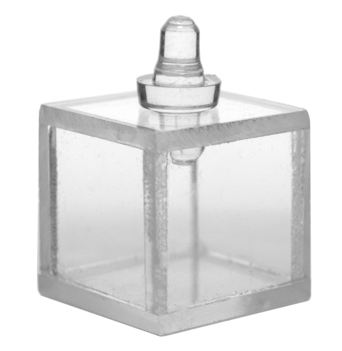 "Hollow Acrylic Prism, Cube - 1""x1"" - With Stopper - For Physics and Light Experiments - Eisco Labs"