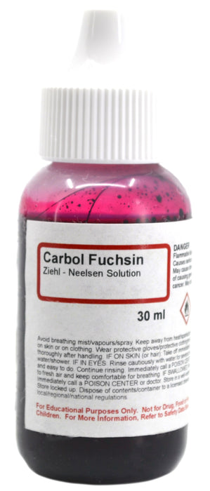 Carbol Fuchsin (Ziehl Neelsen) Solution, 30mL - The Curated Chemical Collection