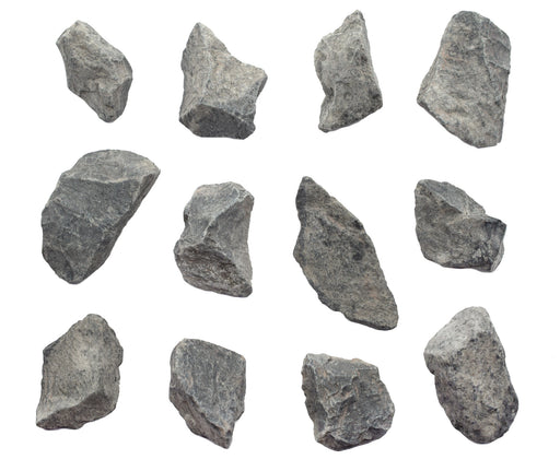 "12PK Raw Gray Limestone, Sedimentary Rock Specimens - Approx. 1"" - Geologist Selected & Hand Processed - Great for Science Classrooms - Class Pack - Eisco Labs"