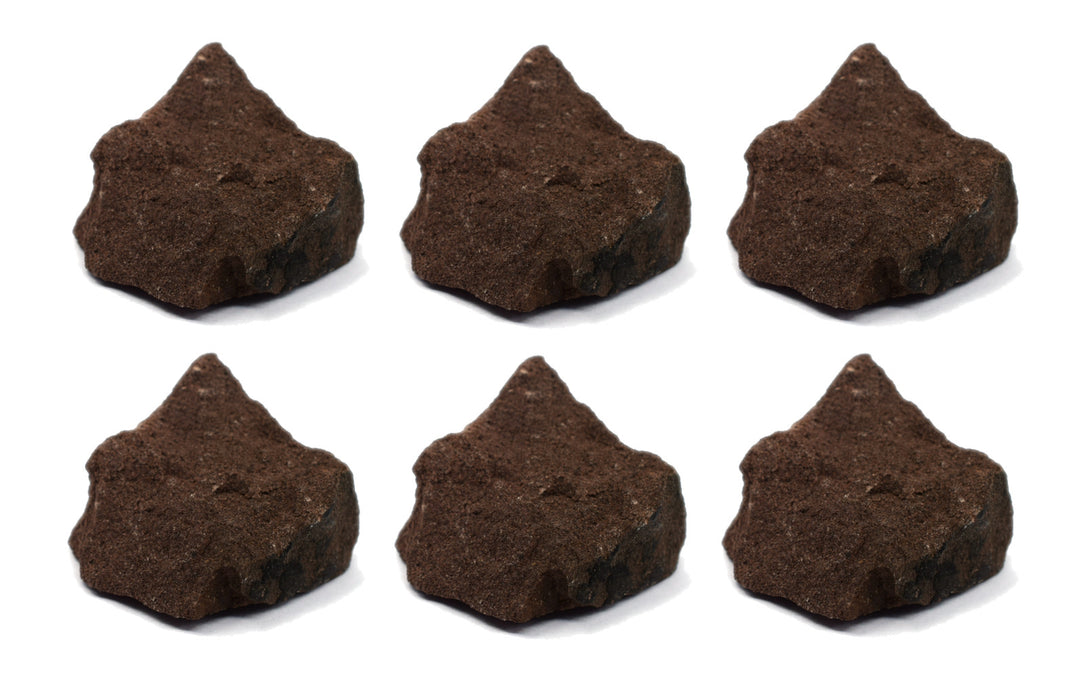 "6PK Raw Red Sandstone, Sedimentary Rock Specimen - Approx. 1""- Geologist Selected & Hand Processed - Great for Science Classrooms - Eisco Labs"