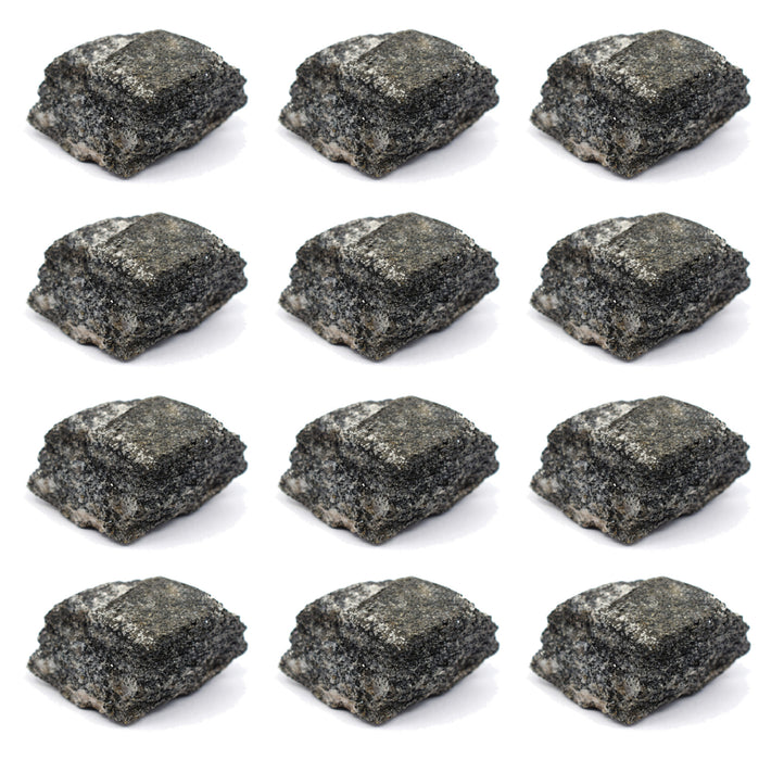 "12PK Raw Biotite Gneiss, Metamorphic Rock Specimens - Approx. 1"" - Geologist Selected & Hand Processed"