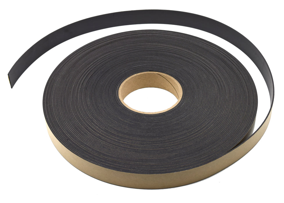 "Flexible, Adhesive Magnetic Tape, 100 ft Roll - 1"" x 0.06"" - Premium Strength, Acrylic Adhesive - Great for Outdoor Use - Projects, Refrigerators, Organization & Storage - hBARSCI"