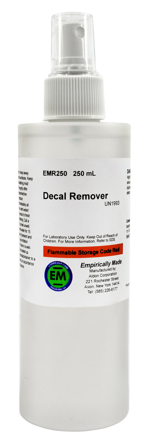 Decal Adhesive Remover, 250ml - For Removal of Decals, Stickers & Adhesives - Low Odor - Empirically Made