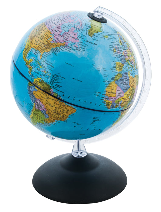 Geographical Globe, 12 Inch - With Plastic Graduated Arc