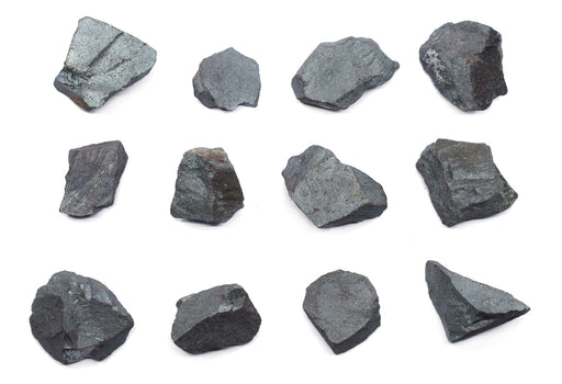 "12PK Raw Hematite, Mineral Specimens - Approx. 1"" - Geologist Selected & Hand Processed - Great for Science Classrooms - Class Pack - Eisco Labs"