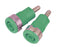 Socket for Banana Plugs - 4 mm, Green