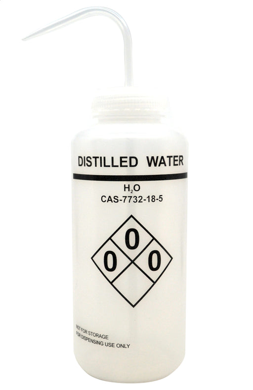 1000ml Capacity Labelled Wash Bottle for Methanol, Self Venting, Low Density Polyethylene - Eisco Labs