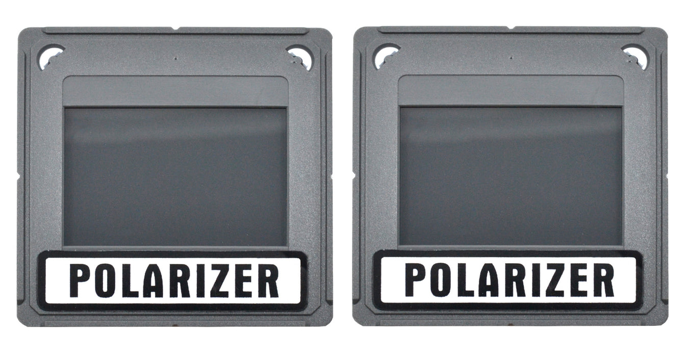 Polarizing Pair - Mounted in Square Plastic Frames, Size 50x50mm - Eisco Labs