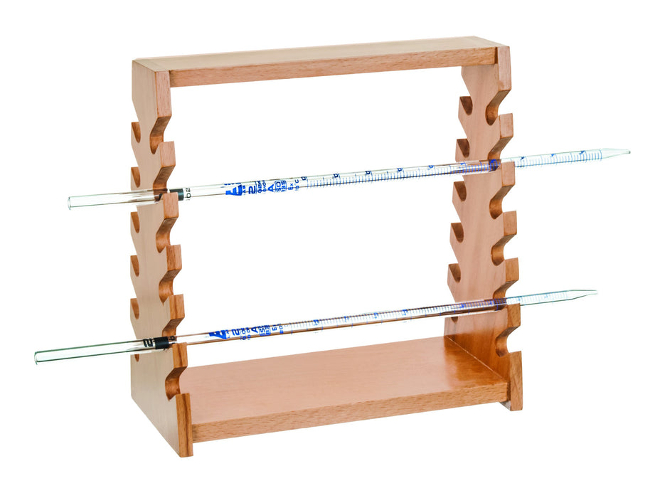 Pipette Stand - Holds 12 x 12mm Pipettes - Hardwood