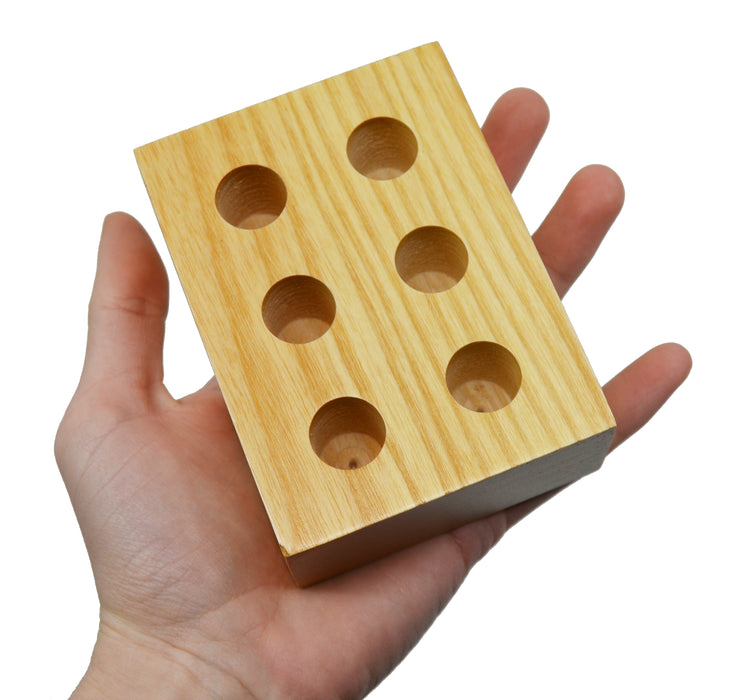 Entomology Pin Storage Block, 4 Inch - Fits 6 Pins - Wooden