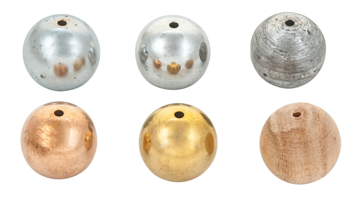 Drilled Ball Set - Set of 6
