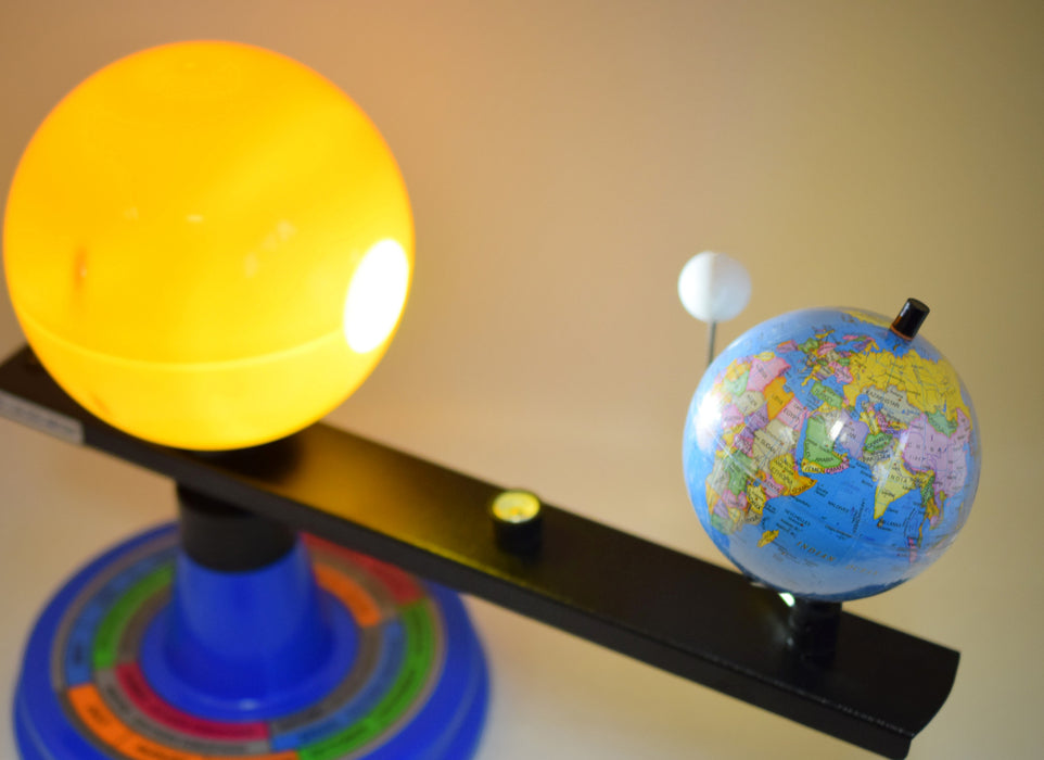 Solar System Model, 12.25 Inch - Three Dimensional - Shows Effects of Sunlight on the Earth and Moon