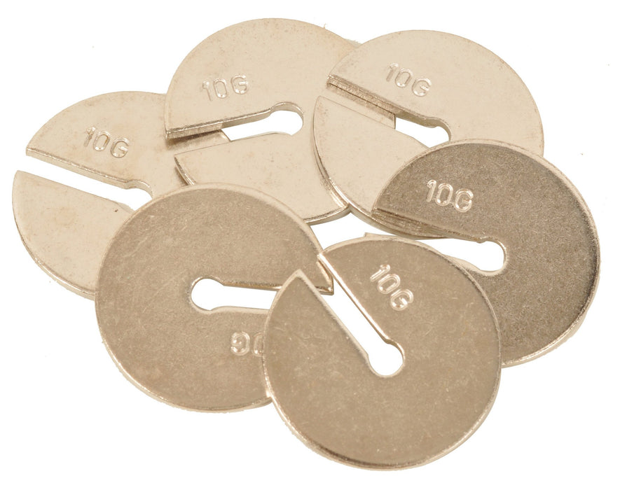 Set of 10 Weights each of 10 g for use with above