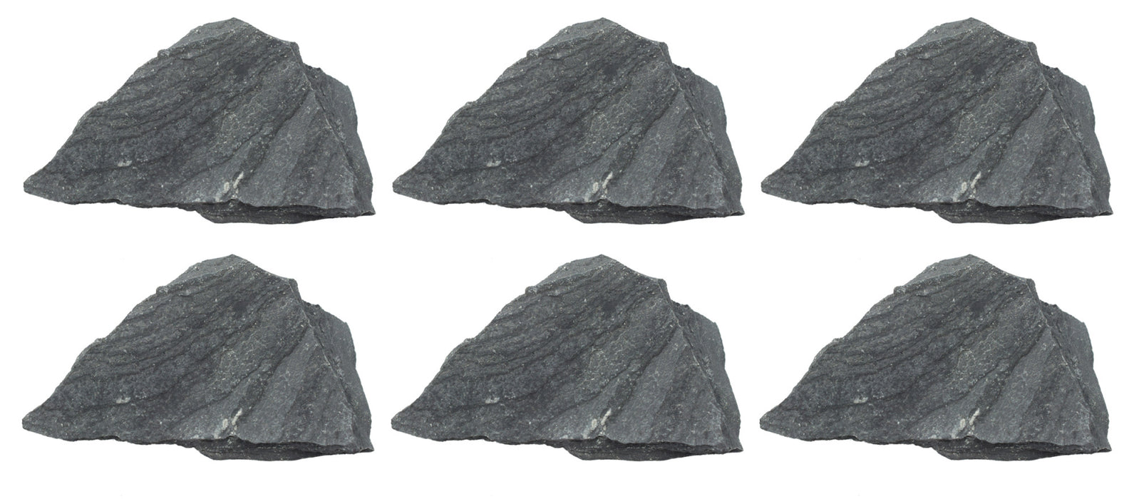 "6PK Raw Slate, Metamorphic Rock Specimens - Approx. 1"" - Geologist Selected & Hand Processed - Great for Science Classrooms - Class Pack - Eisco Labs"