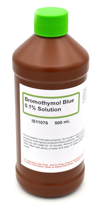 0.1% Bromothymol Blue, 500mL - Aqueous - The Curated Chemical Collection