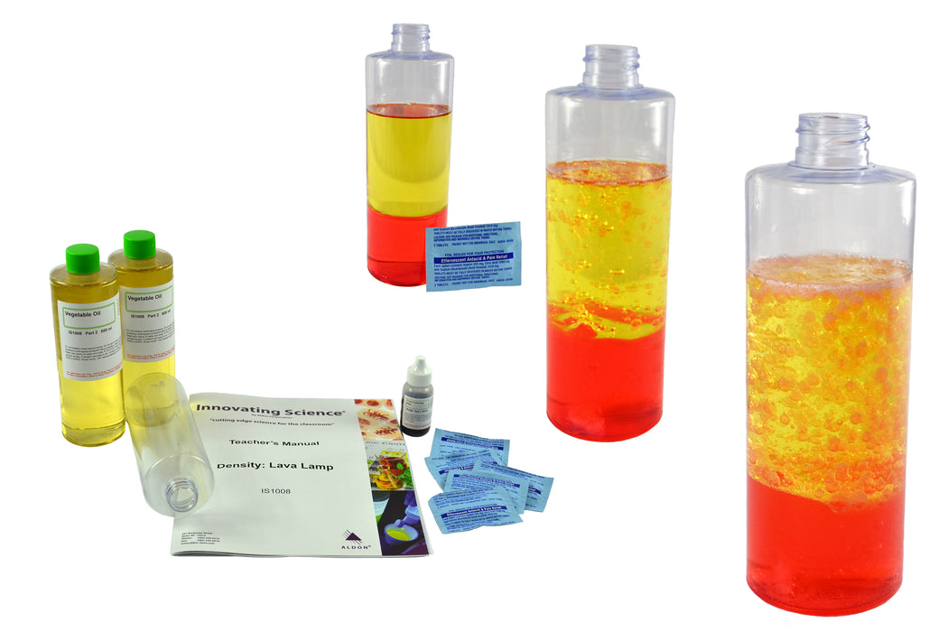 Density Lava Lamp Experiment Kit - Explore & Visualize Density & Polarity - Science At Home Series - Innovating Science