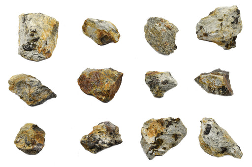12 Pack - Raw Garnet Schist, Metamorphic Rock Specimens - Approx. 1""