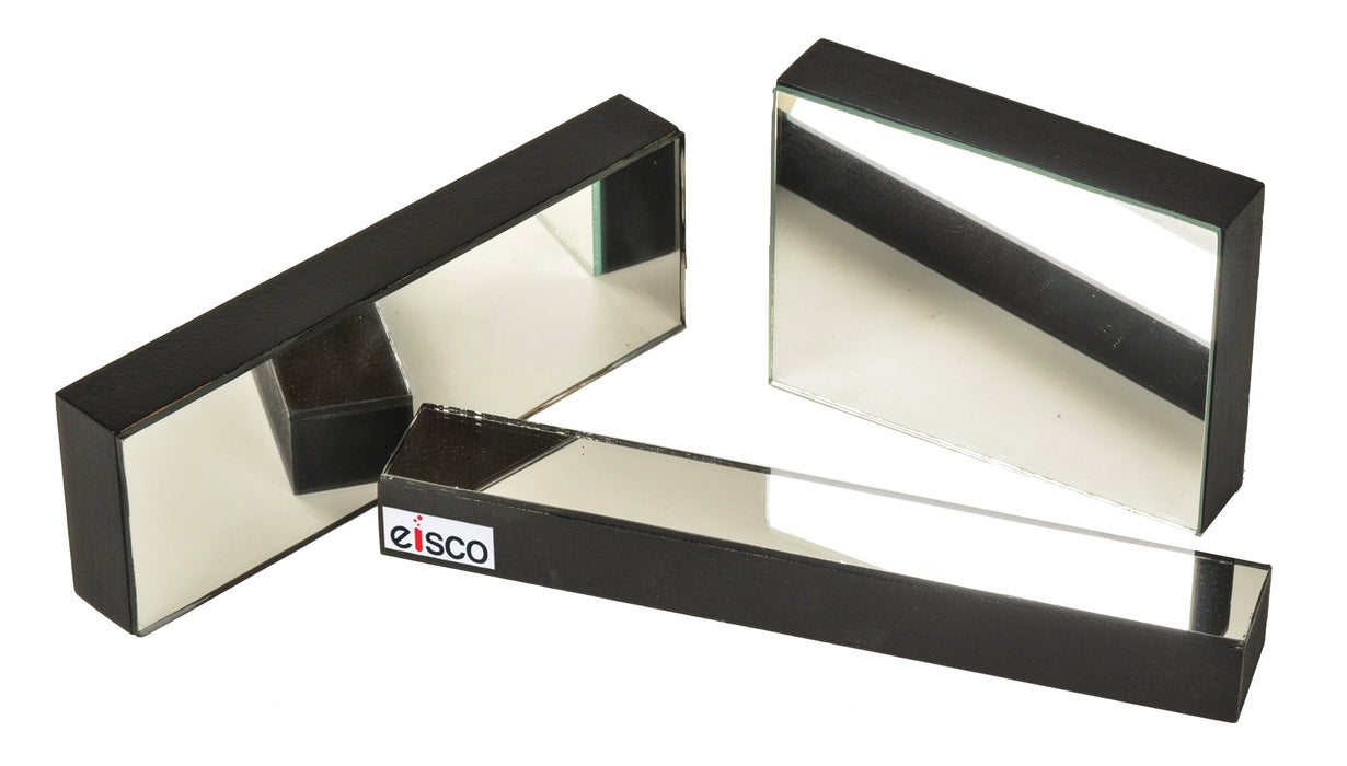 Plane Mirrors Glass - Mounted, 150 x 25 mm