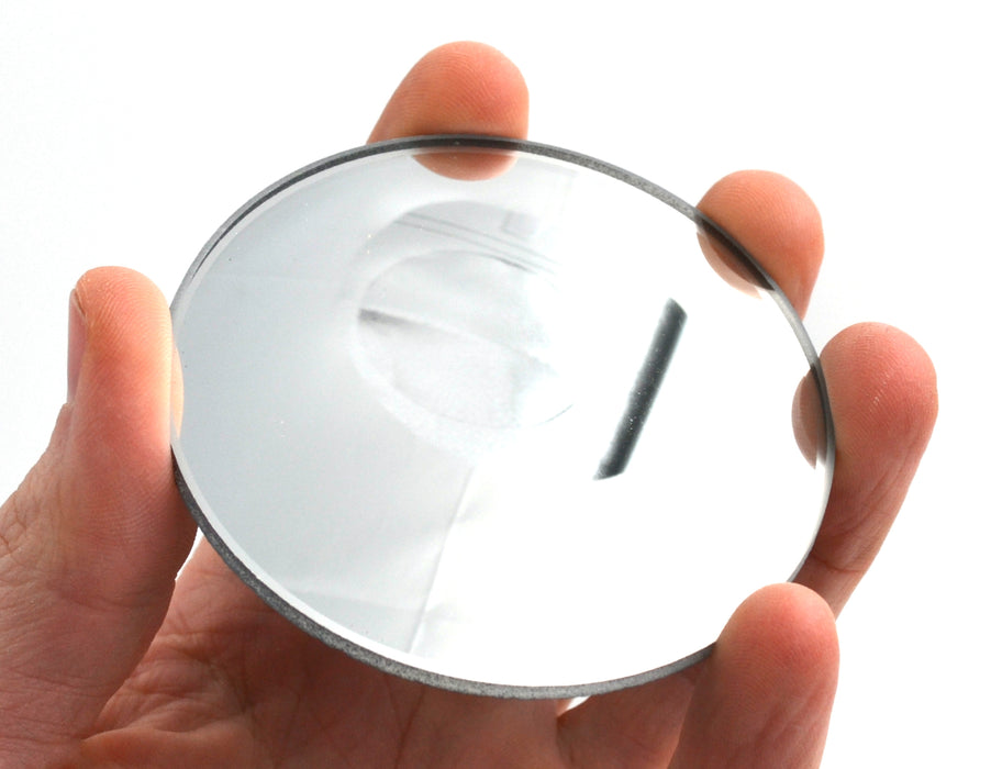 "Round Convex Glass Mirror - 3"" (75mm) Diameter - 100mm Focal Length - 2.8mm Thick Approx. - Eisco Labs"