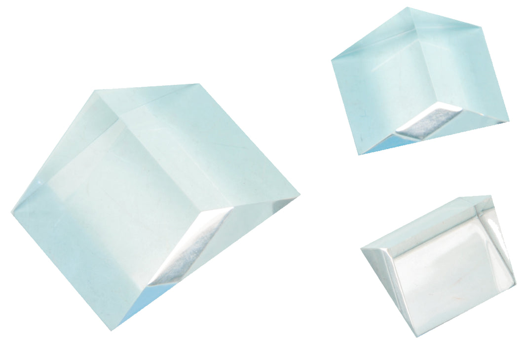 Right-angled Acrylic Prism Set of 3