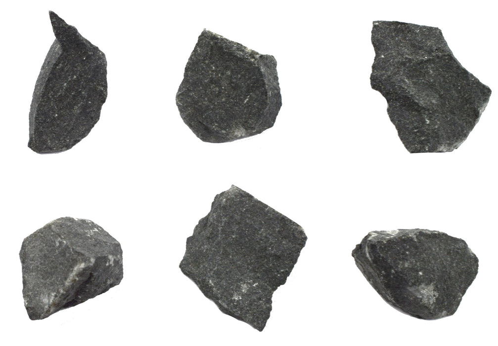 "6PK Raw Basalt, Igneous Rock Specimens - Approx. 1"" - Geologist Selected & Hand Processed - Great for Science Classrooms - Class Pack - Eisco Labs"