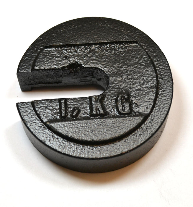 Eisco Labs Cast Iron Slotted Weight - 1 Kg Painted Black (2.20 pounds)