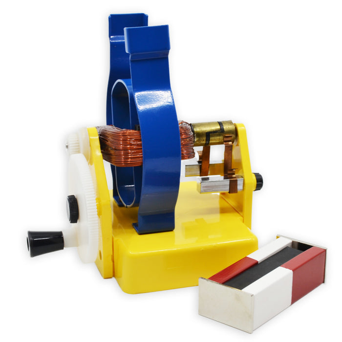 Simple Motor Model, 5.5 Inch - Manual - Demonstrate Magnet Action, Principle of Alternator - Includes Two Magnets - Eisco Labs