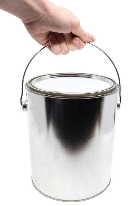 1 Gallon Metal Paint Can with Ears, Bail, and Lid - Made in the USA from Partially Recycled Metal - 100% Recyclable