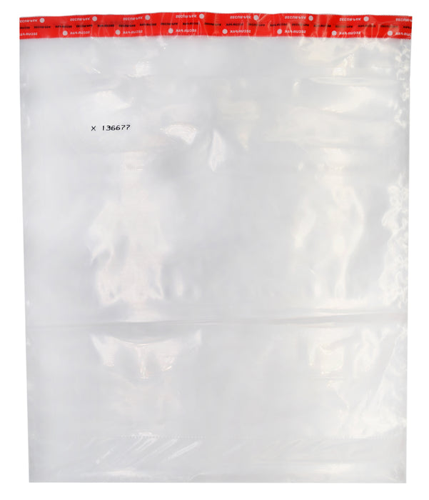 "Secur-Pak Evidence / Currency Bags - Pack of 100 - 19"" x 24"", Tamper Evident, Clear, Cash Coin Security Bags - Serialized Numbering - Self Sealing, Transparent Plastic - 100% Recyclable - SECUR-PAK"