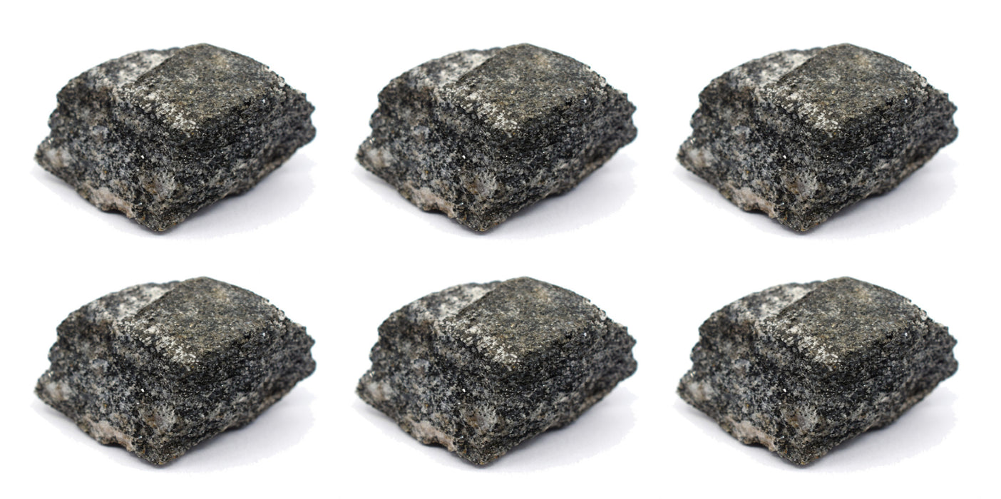 "6PK Raw Biotite Gneiss, Metamorphic Rock Specimens - Approx. 1"" - Geologist Selected & Hand Processed - Great for Science Classrooms - Class Pack - Eisco Labs"