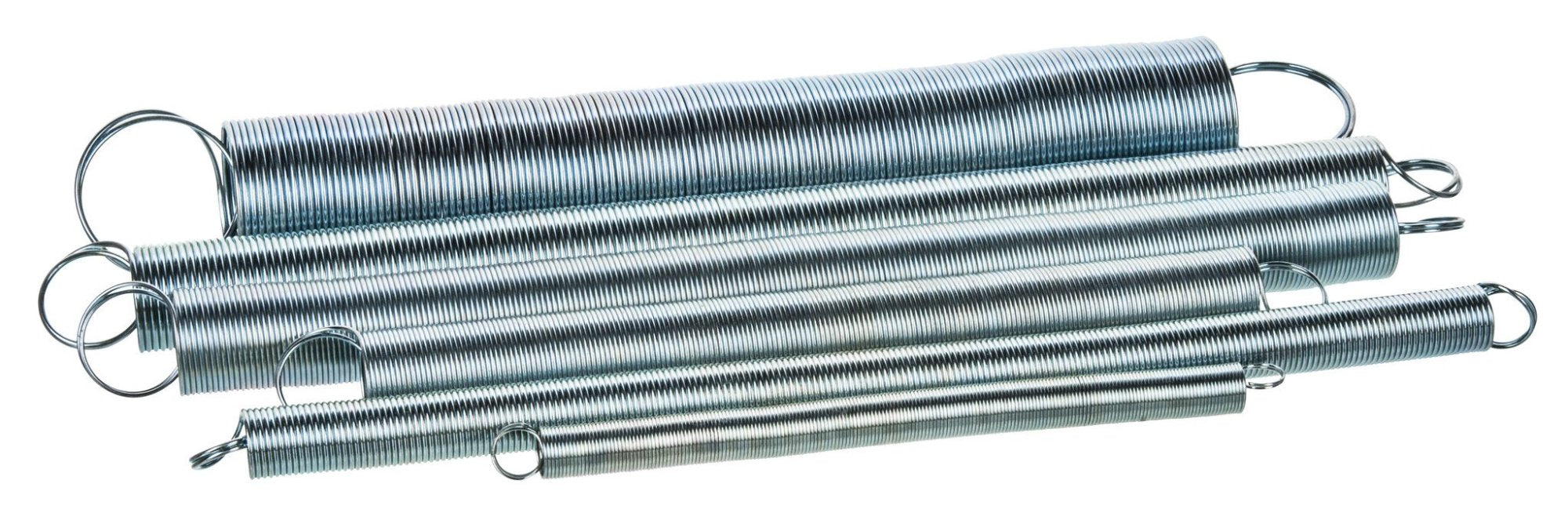 Set of 6 Springs - Steel - Looped Ends - Flexible Length Approximately 10-20cm - Eisco Labs