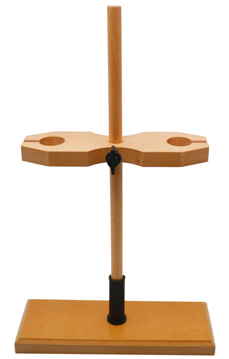 Double Funnel Stand - Holds 2 Funnels - Hardwood