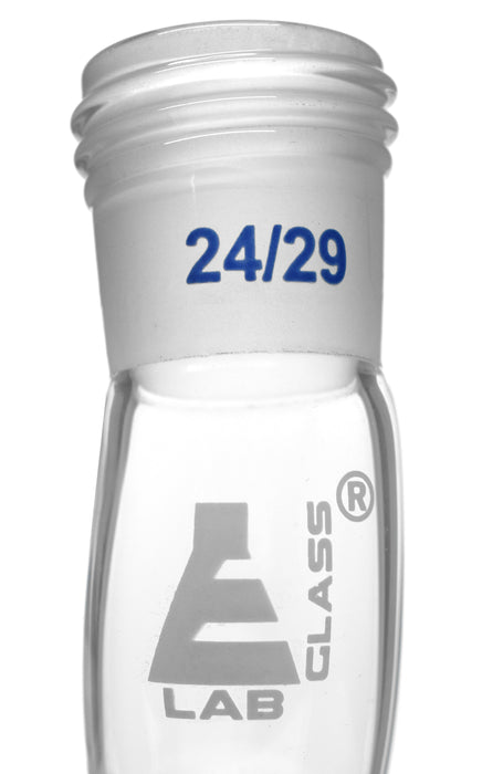 "Adapter Receiver - Screw Thread - 4"" (100mm)  Long - 24/29 Joint - Borosilicate Glass - Eisco Labs"