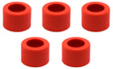 Pack of 5 Threaded Screw Caps, Open - Joint Size 14/23 - Plastic, Red Color - Spare / Additional Part - Eisco Labs