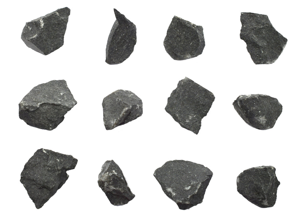 "12PK Raw Basalt, Igneous Rock Specimens - Approx. 1"" - Geologist Selected & Hand Processed - Great for Science Classrooms - Class Pack - Eisco Labs"