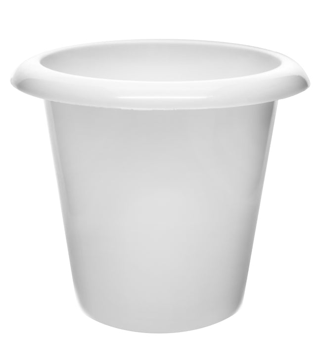 "Plantation Pot, 8"" Tall - Polypropylene - Downward Extended Rim - Drillable Drain Holes - Eisco Labs"