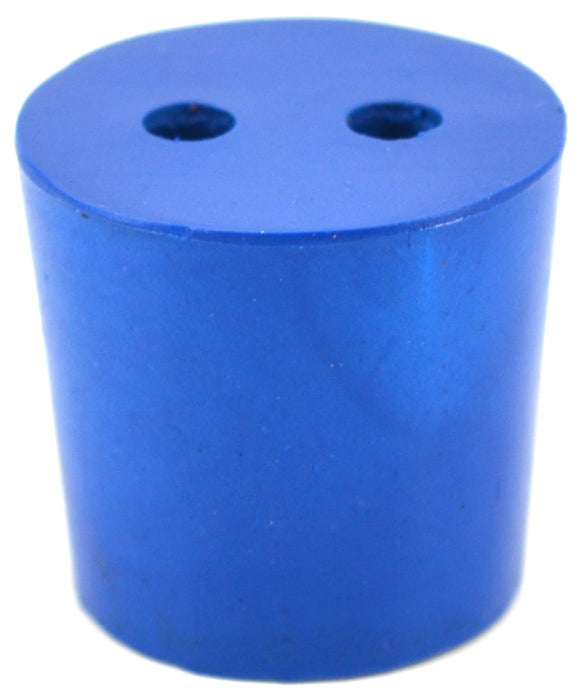 10PK Neoprene Stoppers, 2 Holes - ASTM - Size: #5 - 23mm Bottom, 27mm Top, 25mm Length